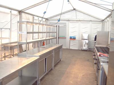 Temporary events kitchen marquee