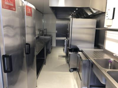 Temporary trailer kitchens